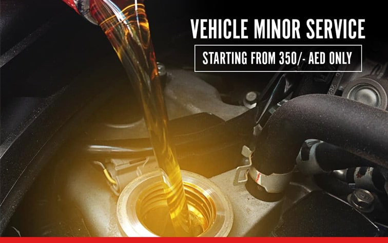 VEHICLE MINOR SERVICE AS LOW AS 350/- AED