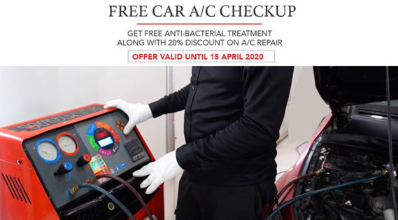 FREE CAR AC CHECKUP AND 20% DISCOUNT | FREE ANTIBACTERIAL TREATMENT